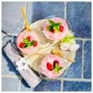 Nuage d'été aux fraises – stracciatella de chocolat noir